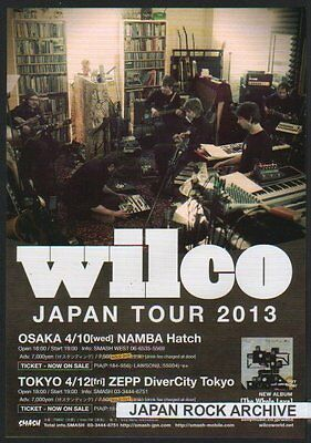 2013 Wilco JAPAN Tour Concert Flyer / handbill / japanese / great photo