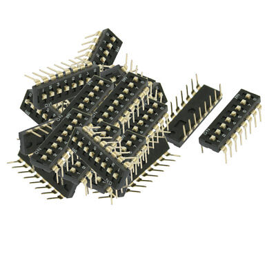 21 Pcs 2.54mm Pitch 8 Position Slide Type DIP Switches