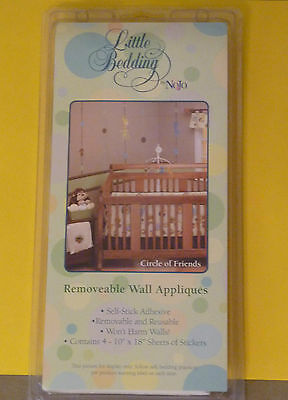 Lil Bedding Circle Of Friends Zoo Animal Wall Decals By Nojo - Nib!