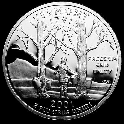 2001 S  Vermont Mint Silver Proof ~ Statehood Quarter from U.S. Proof Set