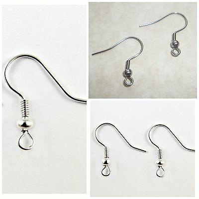 20Pcs 50Pcs Stainless Steel Fish  Hook  Earring Wires - Top Quality