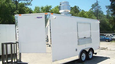 16' Concession Food Trailer- Grease Hood, Sink Package Concession Trailer