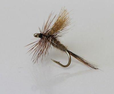 12  DRY March Brown TROUT FLIES for fly fishing rods