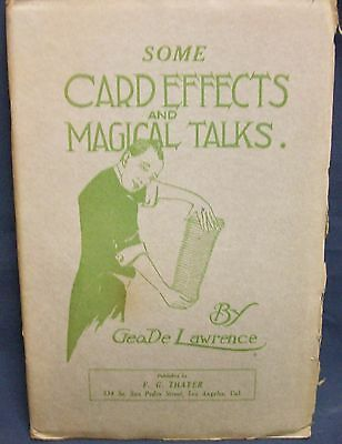 Some Card Effects and Magical Talks by  DeLawrence George