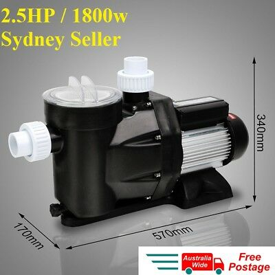 NEW 1800w 2.5HP SWIMMING POOL WATER PUMP ELECTRIC SELF PRIMING SPA FILTER
