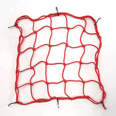 Motorcycle Motorbike Strong Elasticated Cargo Luggage Net Carrier - Red