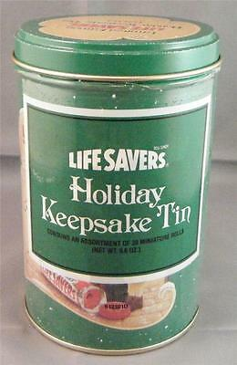 1989 Vintage Retro LifeSavers Holiday Keepsake LE Metal Tin Canister Container