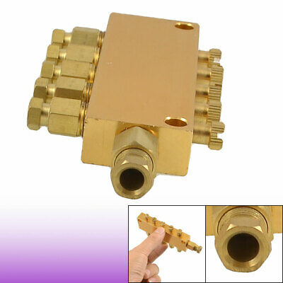 Air Pneumatic Brass Adjustable 5 Ways Distributor Regulating Manifold