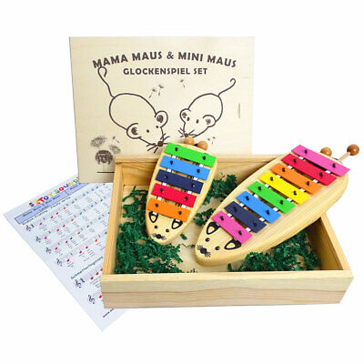 Sonor MaMa & Mini Maus Set Glockenspiel Sopran + Noten