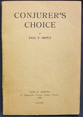 Conjurer's Choice by Impey, Eric