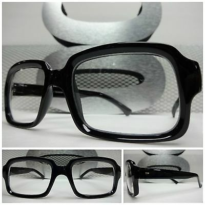 Mens or Women RETRO VINTAGE FASHION NERD SMART PARTY RAVE CLEAR LENS EYE GLASSES