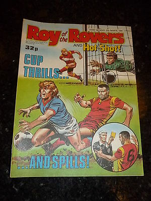 ROY OF THE ROVERS & HOT-SHOT! - Year 1989 - Date 25/03/1989 - UK Paper Comic