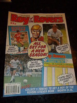 ROY OF THE ROVERS - Year 1989 - Date 19/08/1989 - UK Paper Comic