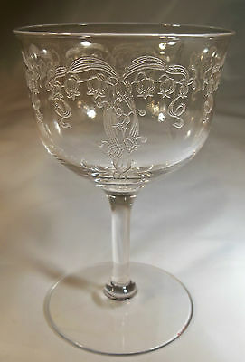 Fostoria Lily Of The Valley Etch #241 Crystal 4-1/2 Ounce Liquor Cocktail Goblet