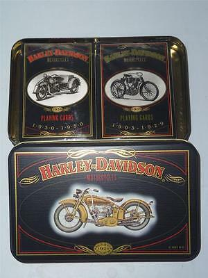 New Harley Davidson Playing Cards Tin Ltd Edition Motorcycle Free Ship -011364