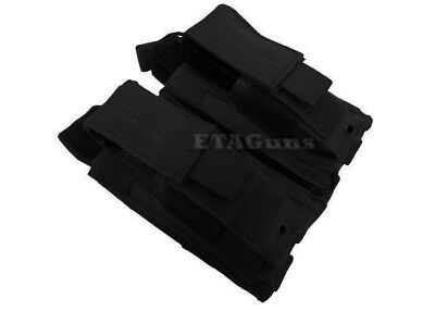 .223 5.56 NATO BLACK Double Police SWAT PALS MOLLE Rifle Magazine Pouch Holster