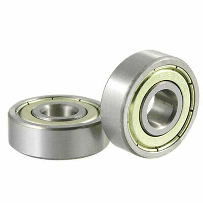 2 Pcs Dual Shielded 628ZZ Miniature Deep Groove Bearing