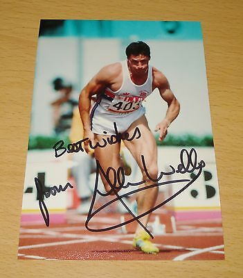 ALLAN WELLS GENUINE HAND SIGNED AUTOGRAPH 6x4 PHOTO MOSCOW GAMES 1980 + COA