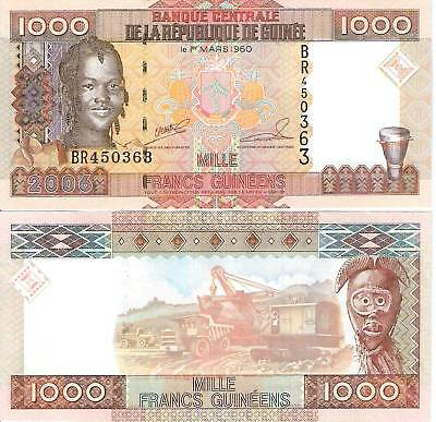 GUINEA 1000 Francs Banknote World Currency Money BILL p40 Note Africa 2006