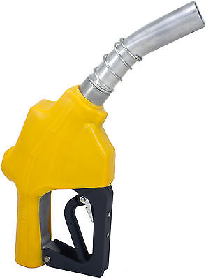 "ZL-120L Yellow Stainless 1"" 1-3/16""Automatic Fueling Nozzle Gas Diesel Biodiesel"