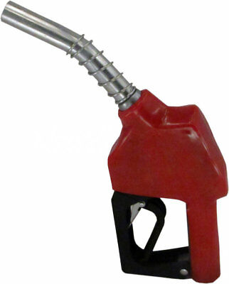 "ZL-11AP Red Stainless 3/4"" 13/16"" Automatic Fueling Nozzle Gas Diesel Biodiesel"