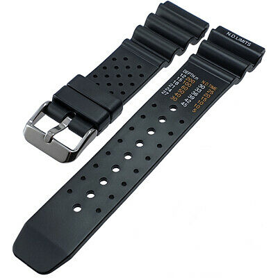 Black Rubber ND Limits Divers Diving Watch Strap Band 18mm 20mm 22mm