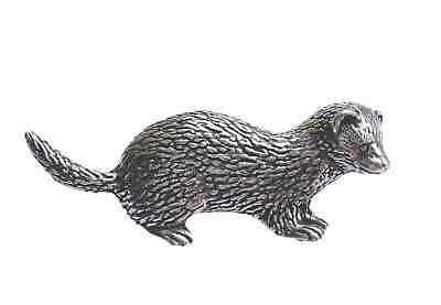 FERRET - Hand Made in UK Pewter Lapel Pin Badge