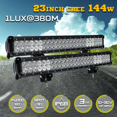 22inch 450w Philips LED Light Bar Spot Flood Combo Offroad Work Driving 4WD