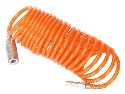 Sealey SA305 Coiled Air Hose 5mtr Ø5mm with Couplings