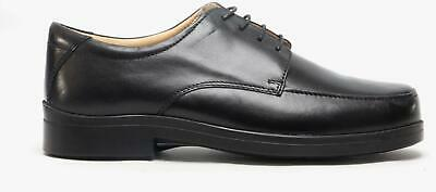 Dr Lightfoot REUBEN Mens Wide Fit Stylish Lightweight Lace-Up Casual Shoes Black