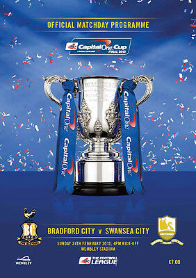 BRADFORD CITY v SWANSEA CITY CAPITAL ONE LEAGUE CUP FINAL 2013 MINT PROGRAMME