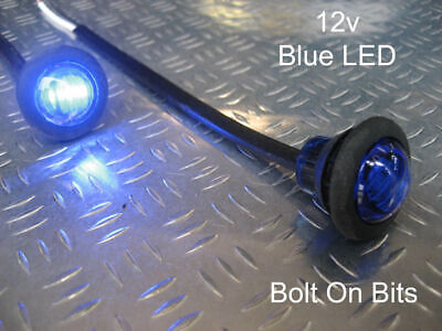 Button 12v Blue LED Marker light/lamp Interior Neon Accent Puddle Limo Bassbox