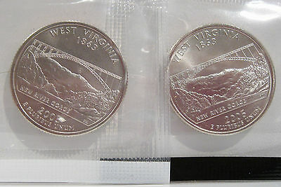 2005 P/D West Virginia State Quarter Satin Finish  US MINT CELLO - Uncirculated