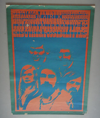 Vintage The Only Alternatives Poster Matrix San Fran Feb 1967 Victor Moscoso 60s