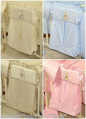 Embroidered Nappy Stacker / Nappy Bag / Diaper Stacker / Diaper Bag /cot/cot Bed