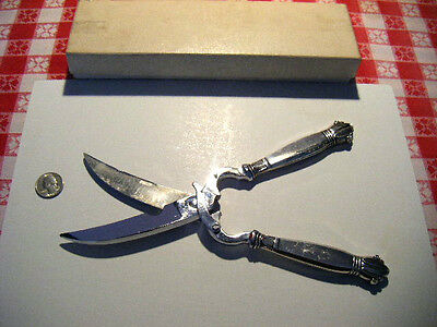 "lobster shears culinary scissors with ""Sterling"" handles Beautiful flatware tool"