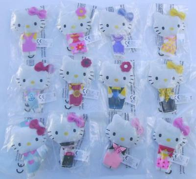Hello Kitty Finger Puppets Complete Set + Holder Panini