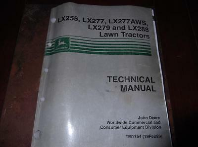 John Deere Lx255 Lx277 Lx277 Aws Lx279 Lx288 Technical Service Manual Tm1754