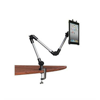 Universal Adjustable Swing Arm Tablet Holder, Table or Car Mount for ALL TABLETS