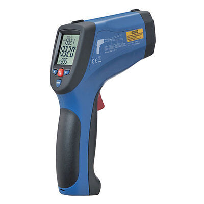 InfraRed Dual Laser IR Thermometer 3992ºF 2200ºC Type K Thermocouple USB 50:1