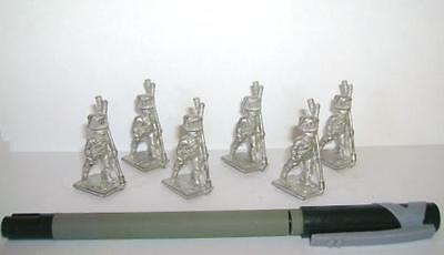 Minifigs FN36 Set 6 French Napoleonic Artilleryman Rammers Unpainted 25mm