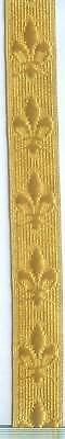 Gold BSA Scout Church Mary Saint Royal Vestment Uniform Fleur De Lis Lace Trim