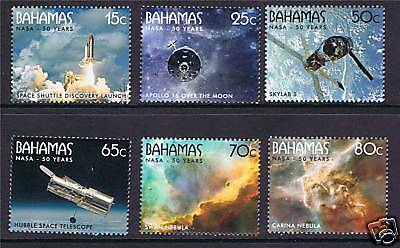 Bahamas 2008 50th Anniversary of NASA SG 1511-6 MNH