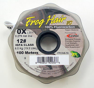 Frog Hair Fluorocarbon 100m Tippet Guide Spool 0x