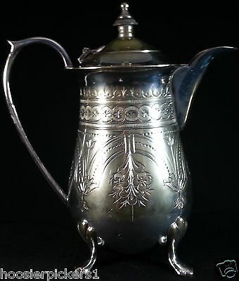 Vintage Hand Engraved single cup Tea pot Silverplate  E P N S A I  made India