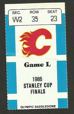 1986 NHL STANLEY CUP FINALS GM1 TICKET STUB CALGARY FLAMES vs MONTREAL CANADIENS