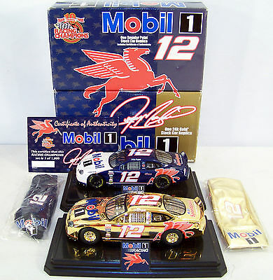 Rare SET of 2 1999 RC 1:24 JEREMY MAYFIELD #12 Mobil 1 w/Flying Pegasus logo!
