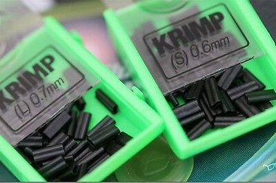 Korda NEW Fishing Spare Krimps/Crimps Small 0.6mm *For use with Krimping Pliers*