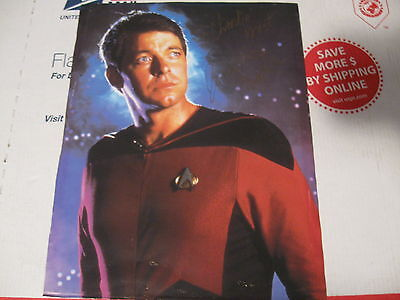 Star Trek  Riker Jonathan Frakes Signed Autograph Photo