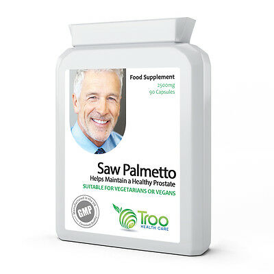 Saw Palmetto 2500mg 90 Capsules - Urinary Tract and Prostate Support